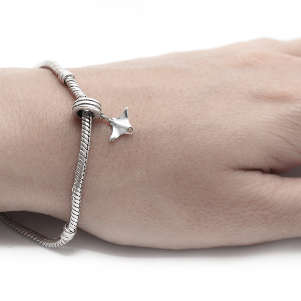 Silver Manta Ray Charm for Pandora Bracelet