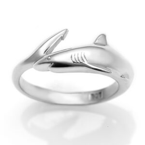 Silver Reef Shark Ring Ocean Jewellery by World Treasure Designs