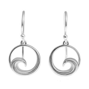 Silver Wave Earrings by World Treasure Designs