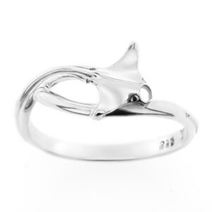 Manta Ray Ring in Sterling Silver Ocean Inspired by World Treasure Designs